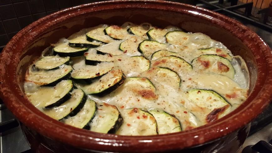 Гратен из цуккини с рыбой, или просто рыбно-овощная запеканка